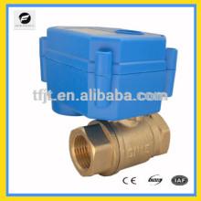 Válvula de bola de motor en miniatura con 12 V, 24 V, 110 V, 220 V para el sistema de baño de ahorro de agua