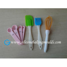 Red Heart Resist Silicone Baking Set , 4pcs Silicone baking tool ,silicone pastry tools set