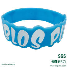 Customized Blue Color Silicon Material Wristband