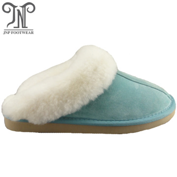 Washable bedroom sheepskin sole soft slippers