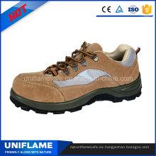 Zapatos de trabajo de seguridad de la suela de PU de suela de cuero de PU