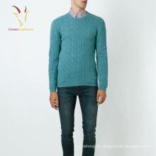 Mode Zopfmuster Kaschmir Pullover Herren Pullover