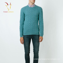 Fashion Cable Knit Cashmere Sweaters Mens Pullover