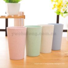 Gros voyage créatif de paille de blé et tasse de boire de tasse de gargarisme écologique de ménage