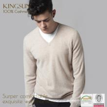Tecidos de cashmere para homem, 100% Cashmere Fitness Sweater, Casual Knitted