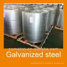 Galvanizado de alta qualidade revestimento de Zn bobina de aço: 50g - 180g