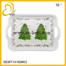16 inch melamine food tray whith handle