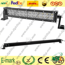 Barre lumineuse 3PCS * 24W LED hors route, barre lumineuse incurvée LED 19 pouces, barre lumineuse LED Creee