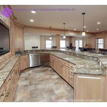 home furniture luxury solid wood kitchen cabinet design