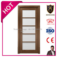 Open Style and Solid MDF Material Interior Glass Door