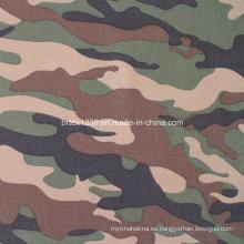 Tela de camuflaje de sarga de algodón para uso militar (16X12 / 108X56)