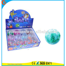 Hot Sell Kid's Toy 65mm Diamond-cut Flashing Beads and Glitter Bouncing Ball
