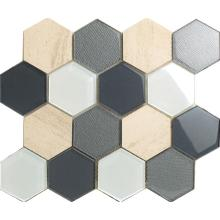 Grandi dimensioni materiale misto Hexagon Mosaic