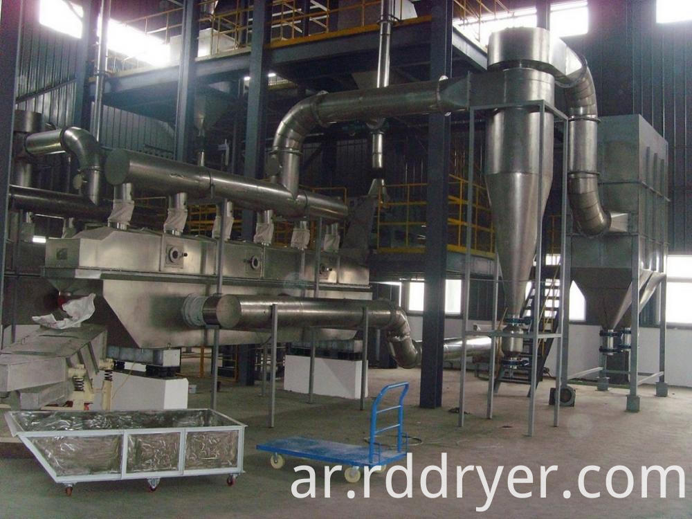 Powder Granule Vibrating Fluid Bed Dryer