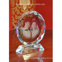 Cadre photo en verre cristal pour cadeaux en cristal