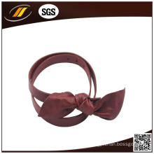 Soft Bowknot Genuine Leather Belt for Women (HJ3232)