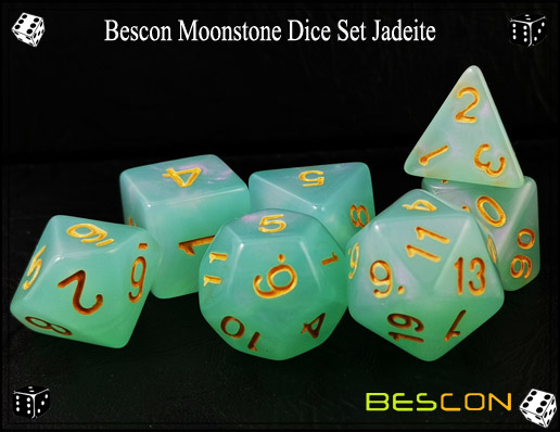Jadeite Dice Set-1