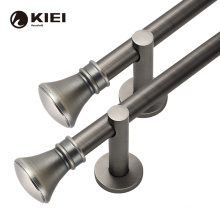 metal iron plain with  coated 35mm curtain rod