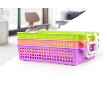 Eco-содружественный многофункциональный пластик А4 для хранения корзины с ручкой