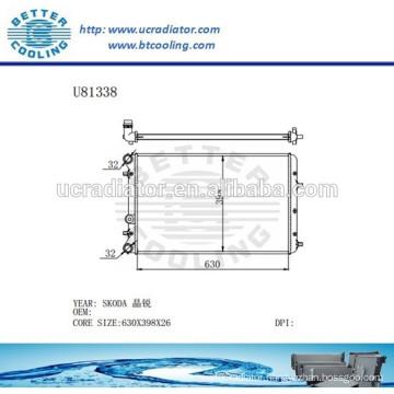 Aluminum Radiator For VOLKSWAGEN SKODA Manufacturer and Direct Sale