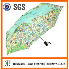 Special Print Map Promotion Umbrella with Logo