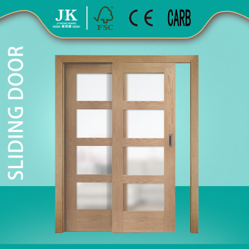 JHK- Grid Cabinet Door Chinese Glass Wood Sliding Door