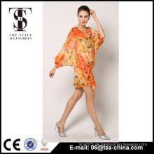 2016 neues Design Chiffon gedruckt Long Beach Dress Cover bis Strand Kleid