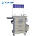 Chariot médical mobile de chariot d'accident d'hôpital d'instrument chirurgical de SKR-AT311 ABS