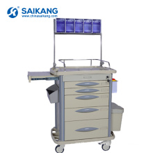 SKR-AT311 ABS Surgical Instrument Hospital Crash Mobile Medical Trolley Cart