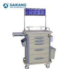 SKR-AT311 ABS Surgical Instrument Hospital Crash Mobile Medical Trolley Cart