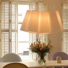 2018 Popular nuevo diseño entrega rápida persianas de PVC ventana