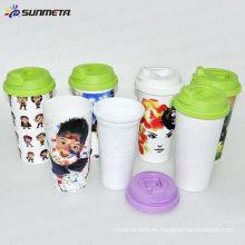Sunmeta Nueva taza de viaje de pared de plástico doble taza --- fabricante