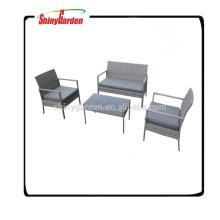 Sistema del sofá de los muebles del jardín del mimbre de la rota de ocio de 4 PC, sofá usado de la rota en venta