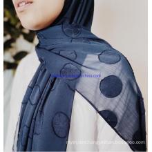 Plain or Lace Chiffon or Satin OEM Custom  Crystal Stones Muslim Scarf Hijab