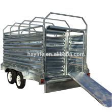 High quality heavy Duty Galvanized Steel Livestock Trailer Cattle Trailer