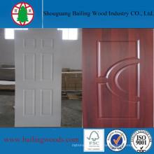 Меламин Белый ламинированные двери ХДФ кожи с дешевой цене