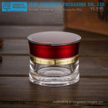 Frasco de cristal YJ-X15 15g especial linda atraente redonda cintura fina 15 g