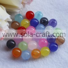 Quality for plastic pearl beads Wholesale Popular Transparent Acrylic Jelly Round Beads  export to China Taiwan Wholesale