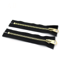 High Quality Autolock Slider Gold Teeth Brass Zipper