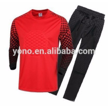 2017 juventude de qualidade superior dri-fit camisas de futebol de roupas de goleiro atacado