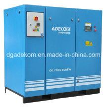Compresor de aire de tornillo sin aceite industrial VSD de alta calidad (KE132-08ET) (INV)