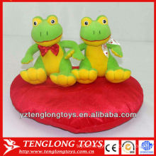 Stuffed couple plush frogs toy for valentine gifts