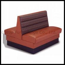 Asiento doble del sofá de la cabina del lado para el restaurante (SP-KS125)