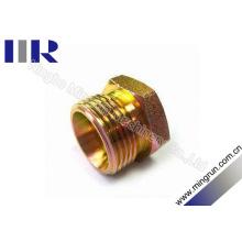 Enchufe macho métrico de acero al carbono de alta calidad (4C)