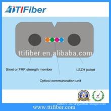 GJXH-4core G657A FTTH Drop Fiber Optic Kabel mit schwarzer LSZH Jacke