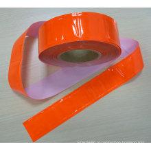 fita reflexiva de cristal de PVC de cor de alta visibilidade