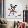 Cute Puppy Canvas Oil Paintings With Frame