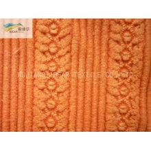 Jacquard de poliéster Nylon misturado tecido de veludo para têxteis-lar