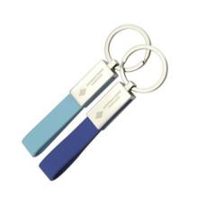 Hochwertiger Werbeartikel Leder Schlüsselanhänger mit Lasergravur Logo (F3052)