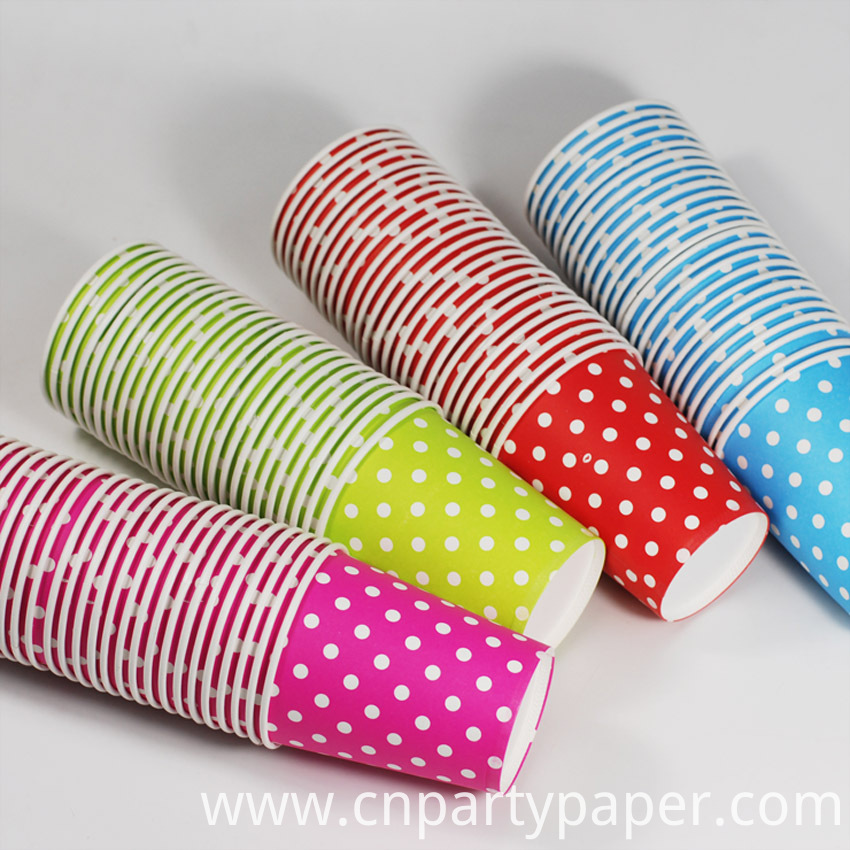 2015-Hot-50pcs-Mint-Blue-Red-Pink-Light-Green-Disposable-Polka-Dots-Paper-Cups-of-Degradable (1)